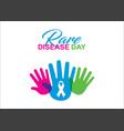 rare disease day poster design vector image vector image