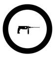 rotary hammer demolition icon black color in vector image vector image