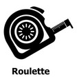 roulette icon simple black style vector image vector image