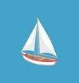 sail boat white canvas sailing vector image vector image