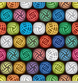 seamless abstract pattern of colorful yarn balls vector image