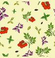 seamless pattern hand drawn fresh vector image vector image