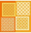 Set of four seamless patterns Vintage geometric vector image vector image