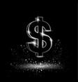 silver dollar symbol vector image