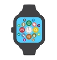 Smart watches with circles vector image