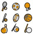 sport object icon vector image