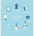 Start up infographic vector image vector image