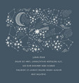 stary sky and constellation vector image vector image