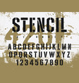 stencil font 009 vector image vector image