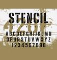 stencil font 009 vector image vector image