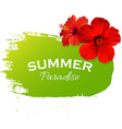 Summer Flowers Poster vector image