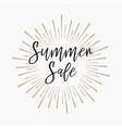 summer sale gold glitter background vector image