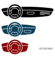 Three icons car dash boards vector image vector image