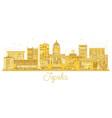 topeka kansas city skyline golden silhouette vector image vector image