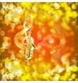 treble clef and a saxophone against bright vector image vector image