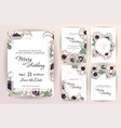 wedding invitation menu cover information label vector image vector image