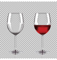 wine glasses - empty half full set of vector image