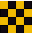 Yellow Black Chessboard Background vector image vector image