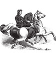 Man riding horses vector image