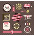 Wedding and Valentines day Elements frames Vintage vector image