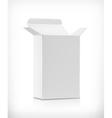 White carton box vector image