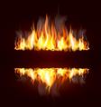 fire borders vector image