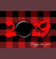 abstract number 2019 and a hockey puck from blots vector image vector image