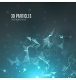 Abstract polygonal techno background Futuristic vector image vector image
