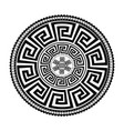 ancient round ornament isolated black vector image vector image