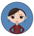 avatar woman short hair vector image vector image