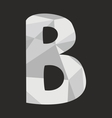 B wrapping surface alphabet letter on black vector image vector image
