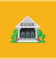 bank flat vector image vector image