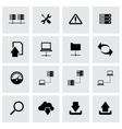 black ftp icon set vector image vector image