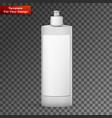 blank dish washing liquid package vector image