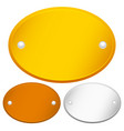 blank oval gold bronze and silver plaques with vector image