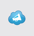 Blue cloud speaker icon vector image