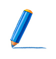 Blue pencil drawing vector image vector image