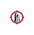 building target logo icon design vector image vector image