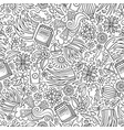 cartoon cute hand drawn spring seamless pattern vector image