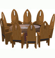 chairs around round table vector image
