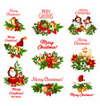 christmas tree and gift icon for new year design vector image vector image