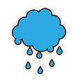 cloud with rain drops vector image vector image