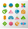 collection of abstract elements for logo vector image