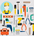 Color tools for repair and home improvement vector image vector image