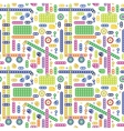 Colorful transport pattern vector image vector image