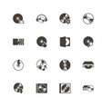 compact disk - flat icons vector image vector image