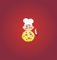 Cook with Tasty Pizza vector image vector image