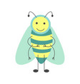 cute hoverfly with long antennae and striped body vector image