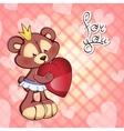 cute Teddy bear in tutu and a vector image vector image