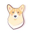 dog emoticon shy puppy icon vector image vector image